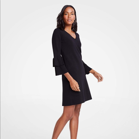 Ann Taylor Dresses & Skirts - Ann Taylor   Ruffle Sleeve Sweater Dress